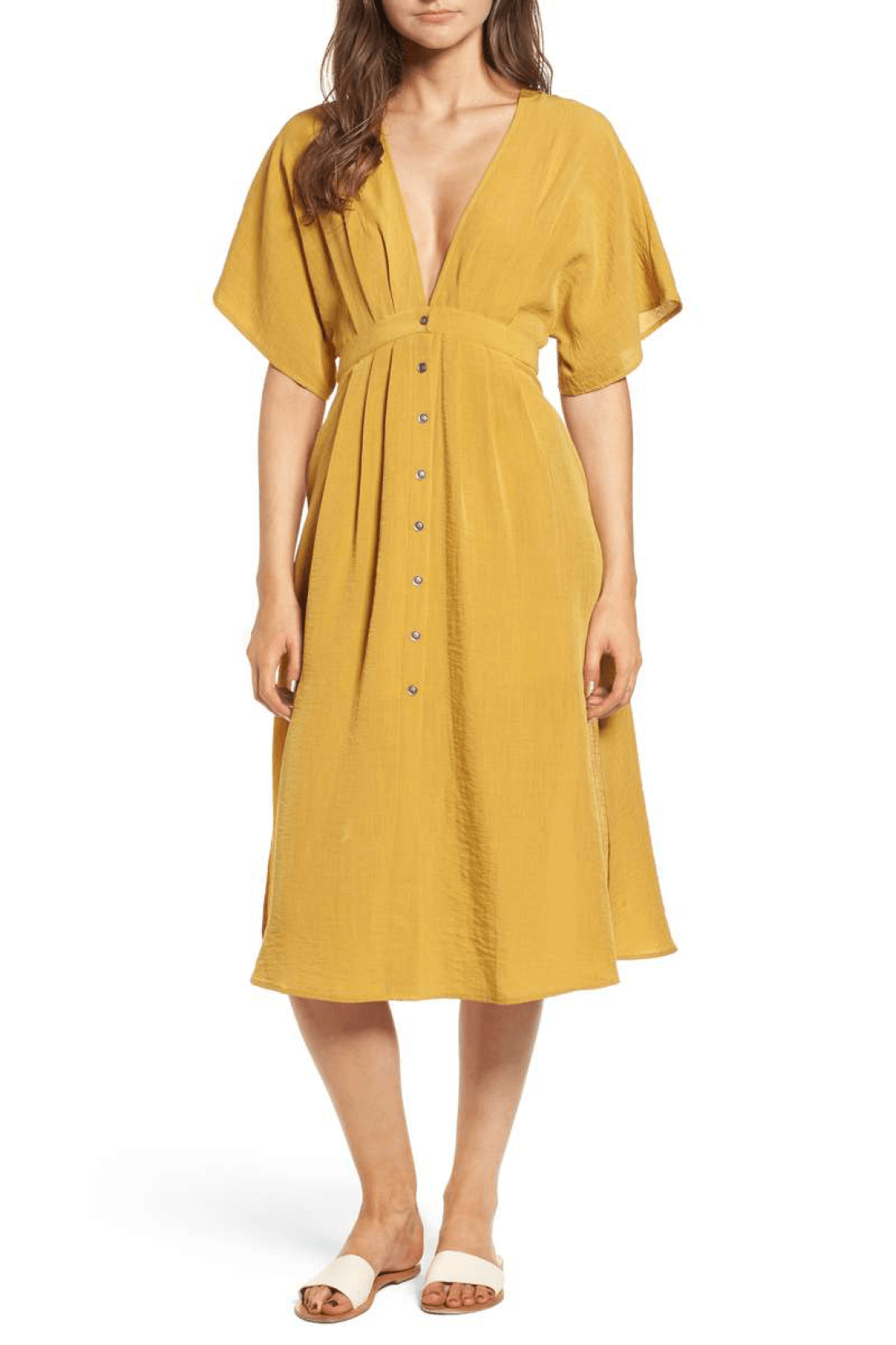 Yellow Midi Dress- Nordstrom | Lost + Wander | Coming in Clutch